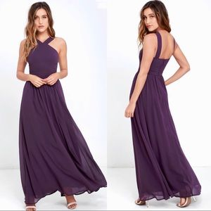 "Lulus ""Air of Romance"" Dusty Purple Maxi Dress"